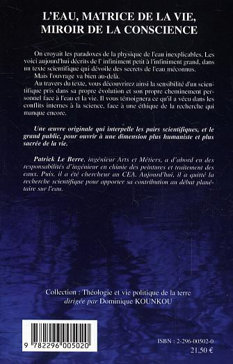 L 39 eau matrice de la vie miroir de la conscience patrick for Le miroir de la vie