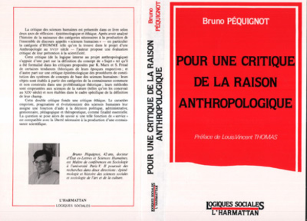 Critique Of Pure Anthropological Reason - cover