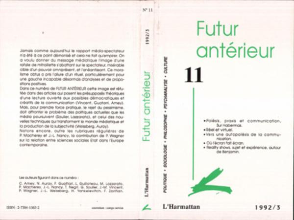 Revues futur ant rieur 11 futur ant rieur 11 for Future interieur