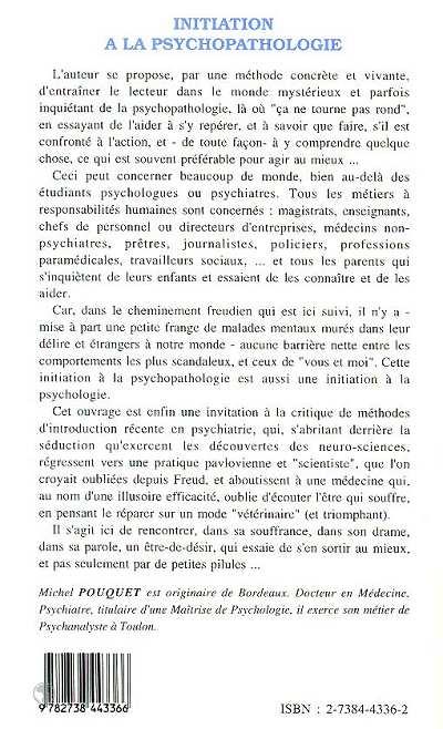 Initiation à La Psychopathologie Des Gens Comme Vous Et Moi