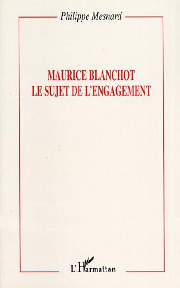 Maurice Blanchot :