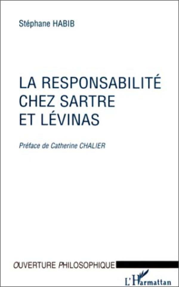 """Résultat de recherche d'images pour """"La responsabilite chez Sartre et Levinas - Stephane Habib"""""""