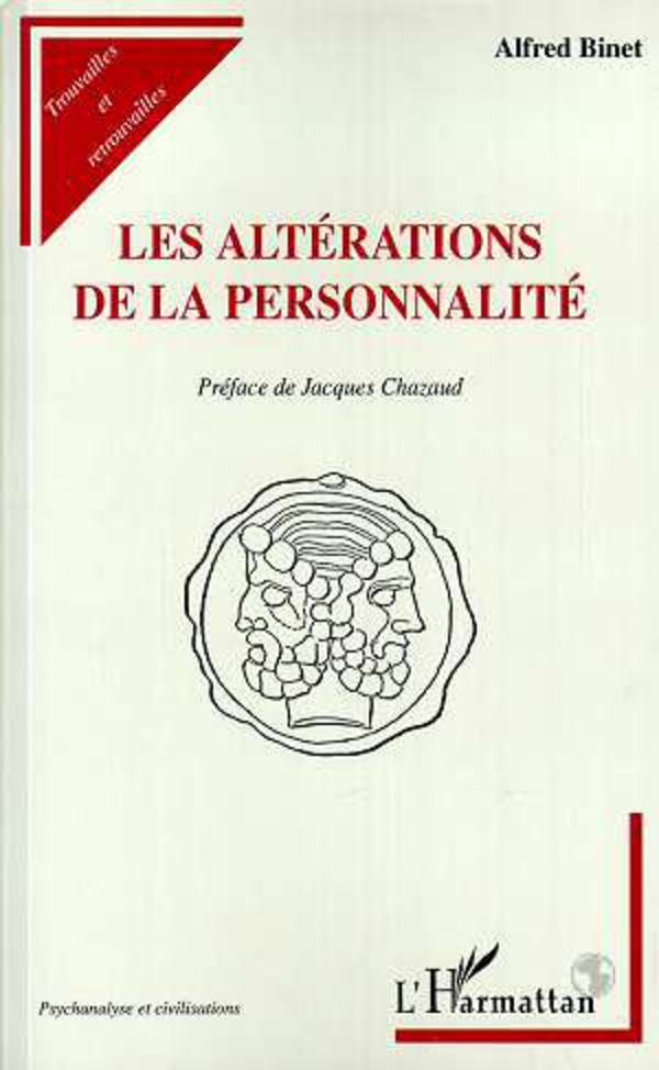 LES ALTERATIONS DE LA PERSONNALITE