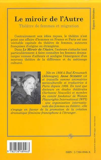 Le miroir de l 39 autre th tre de femmes et migration for Miroir psychanalyse