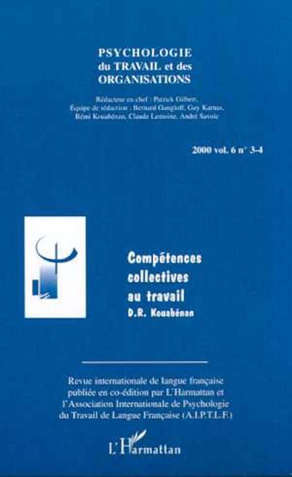 psychologie du travail et des organisations pdf