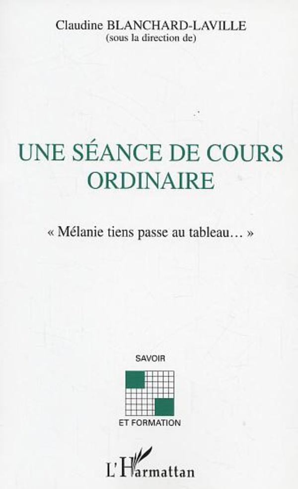SEANCE DE COURS