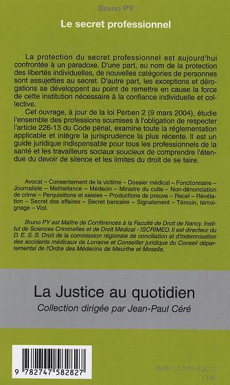 Le secret professionnel (La justice au quotidien) (French Edition)
