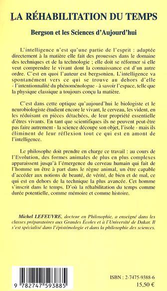 La réhabilitation du temps : Bergson et les sciences daujourdhui (French Edition)