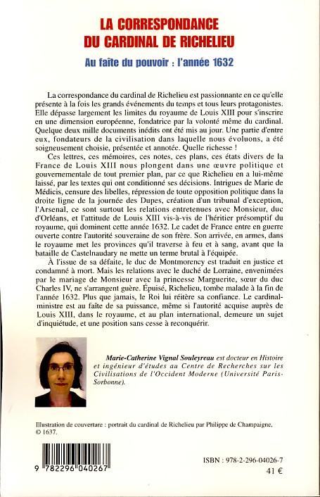 La correspondance du cardinal de richelieu au fa te du for Catalogue de jardinage par correspondance