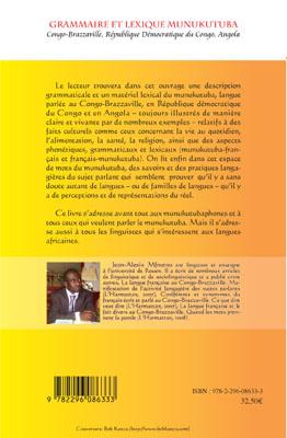 Grammaire et lexique munukutuba. Congo-Brazzaville, République Démocratique du Congo, Angola - Jean-Alexis Mfoutou