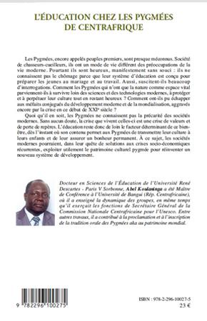 LEducation chez les pygmées de Centrafrique (French Edition)