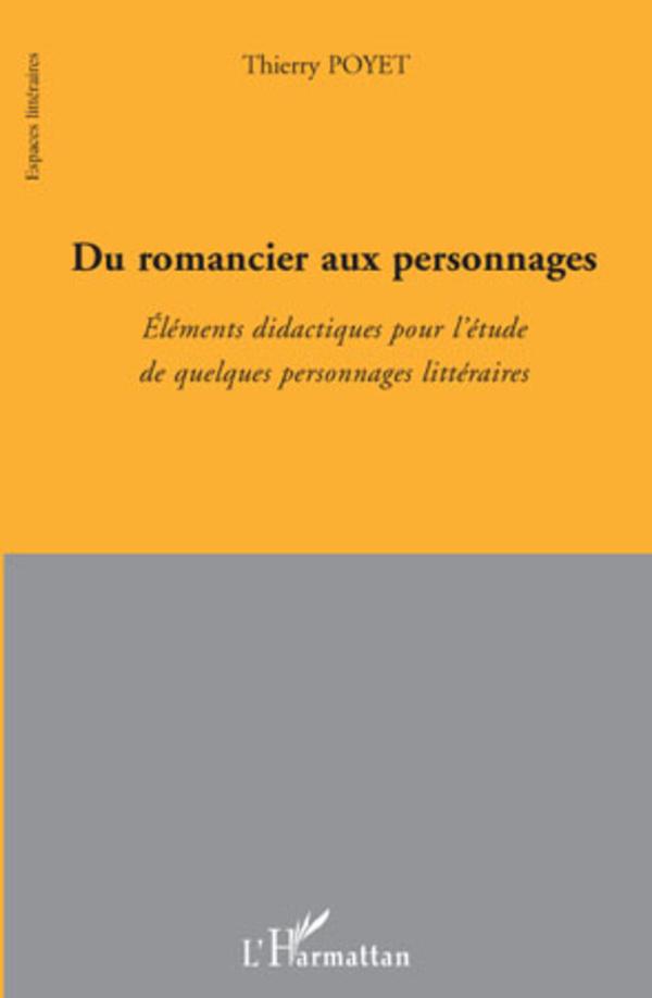 Du romancier aux