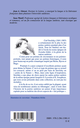 Parfums Dorchidée Blanche Choix De Poèmes Carl Snoilsky
