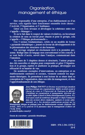 Organisation, management et éthique (Dynamiques dentreprises) (French Edition)