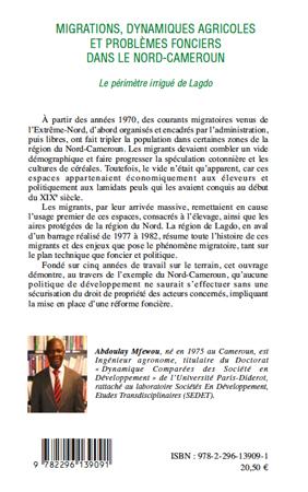 Migrations, dynamiques agricoles et problèmes fonciers dans le Nord-Cameroun. Le périmètre irrigué de Lagdo - Abdoulay Mfewou