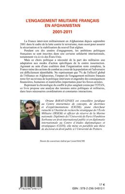Engagement militaire français en afghanistan 2001 2011 (Histoire de la défense) (French Edition)