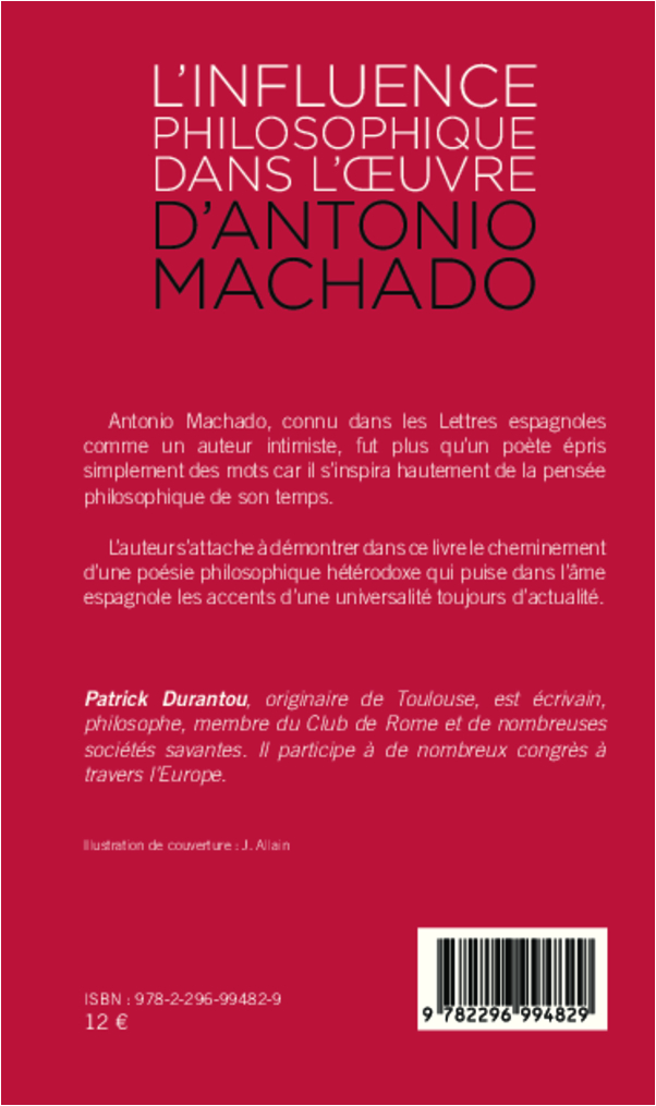 L Influence Philosophique Dans L Oeuvre D Antonio Machado