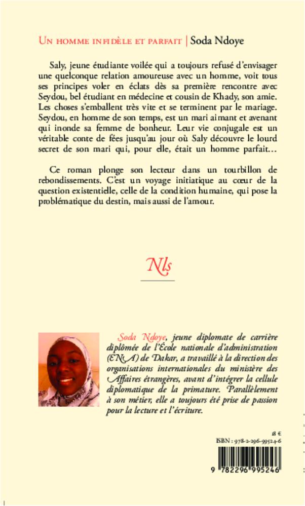 Un Homme Infidèle Et Parfait Roman Soda Ndoye Livre