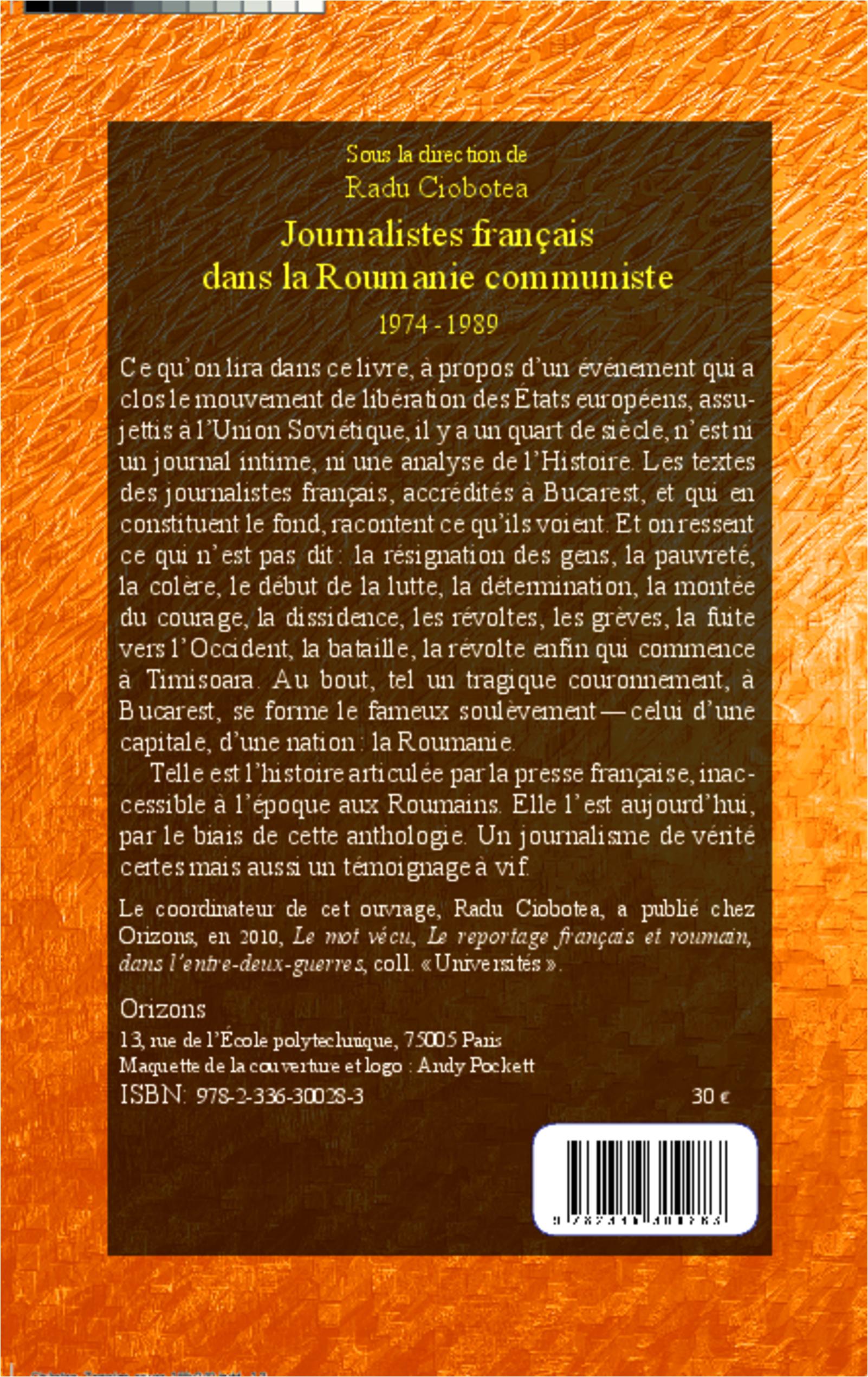La 1974 Communiste Journalistes Français Dans 1989 Roumanie Sous Ew6Zxqva