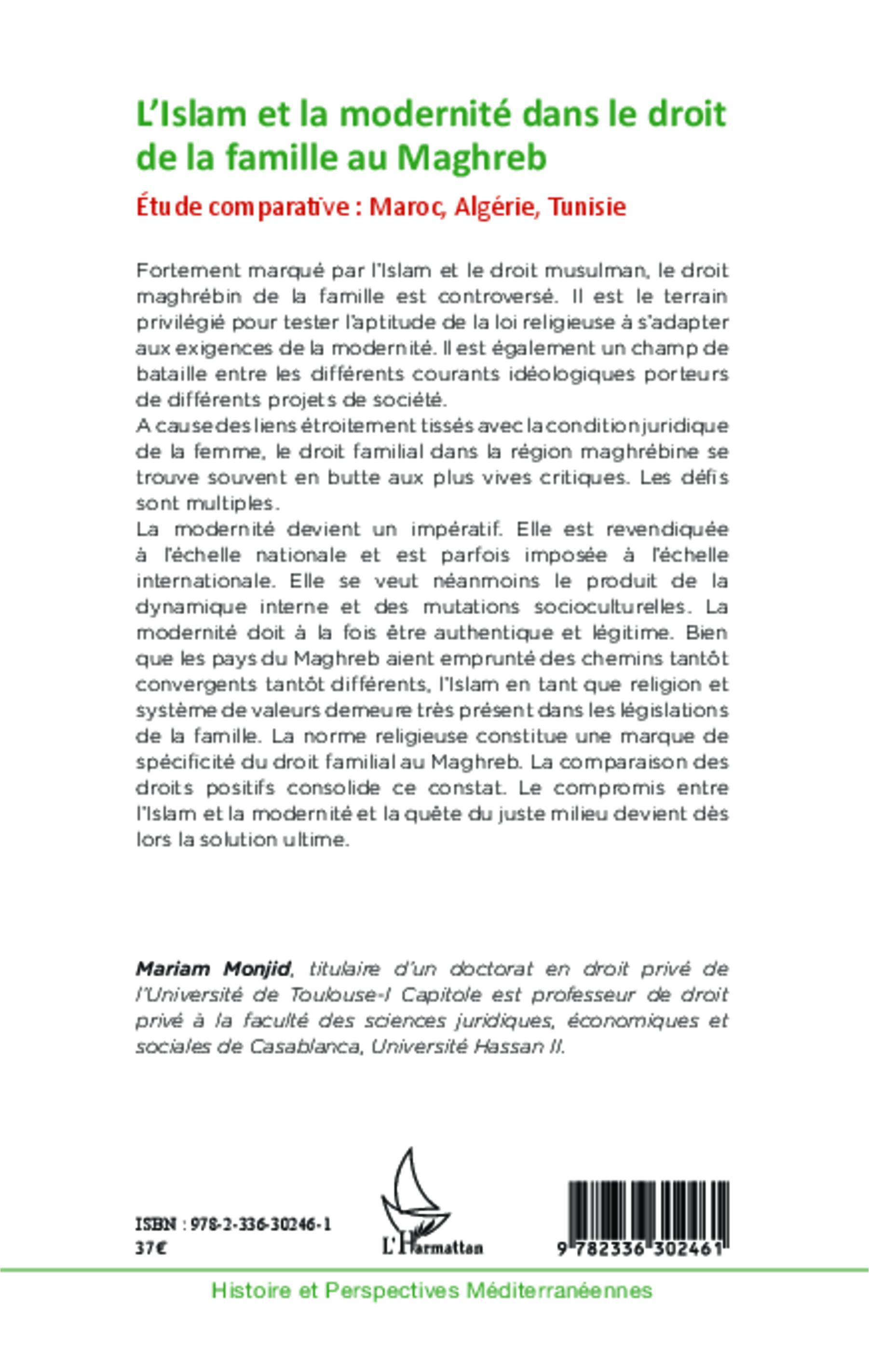 l islam et la modernit 201 dans le droit de la famille au maghreb etude comparative maroc
