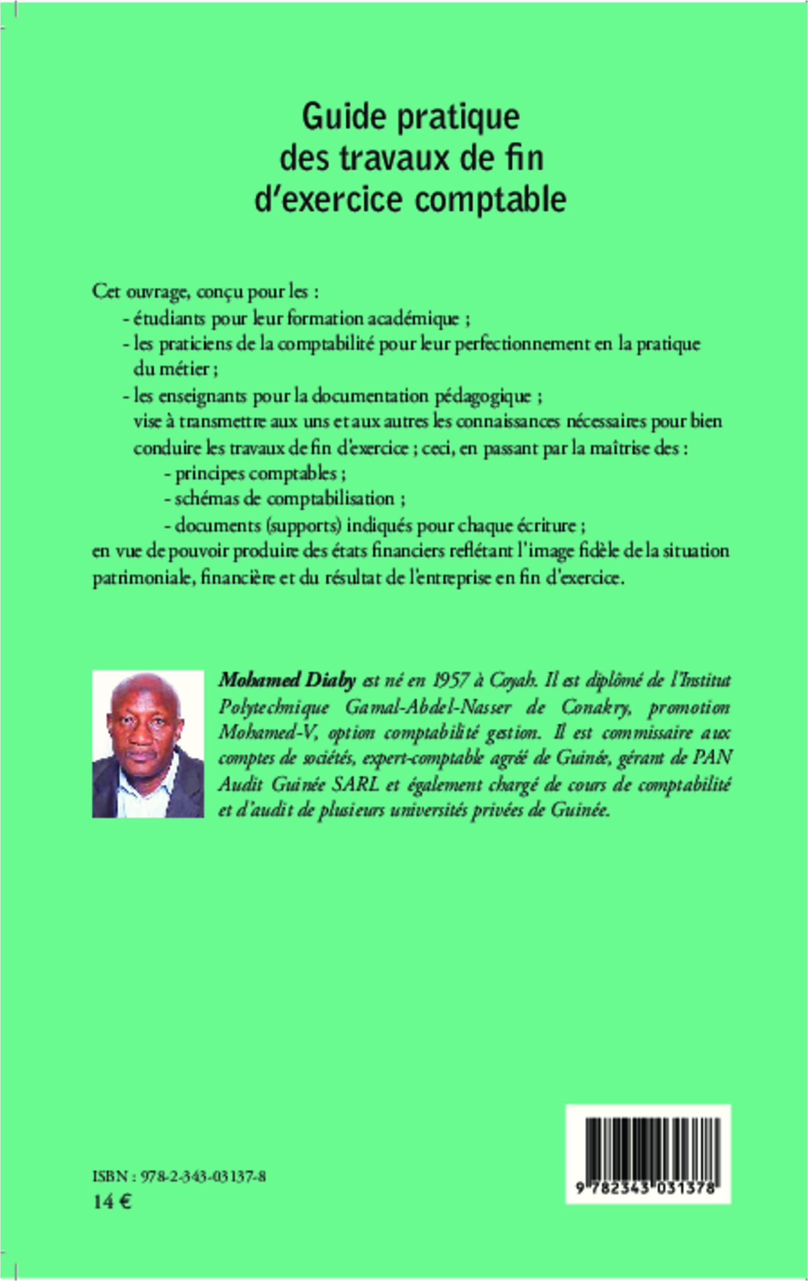 Guide Pratique Des Travaux De Fin D Exercice Comptable Mohamed Diaby Livre Ebook Epub