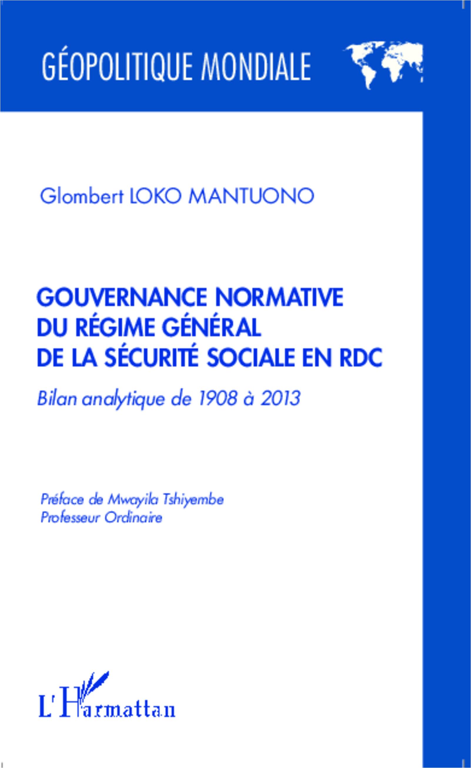 Gouvernance normative du r gime g n ral de la s curit sociale en rdc bilan analytique de 1908 - Plafond de la securite sociale 2013 ...