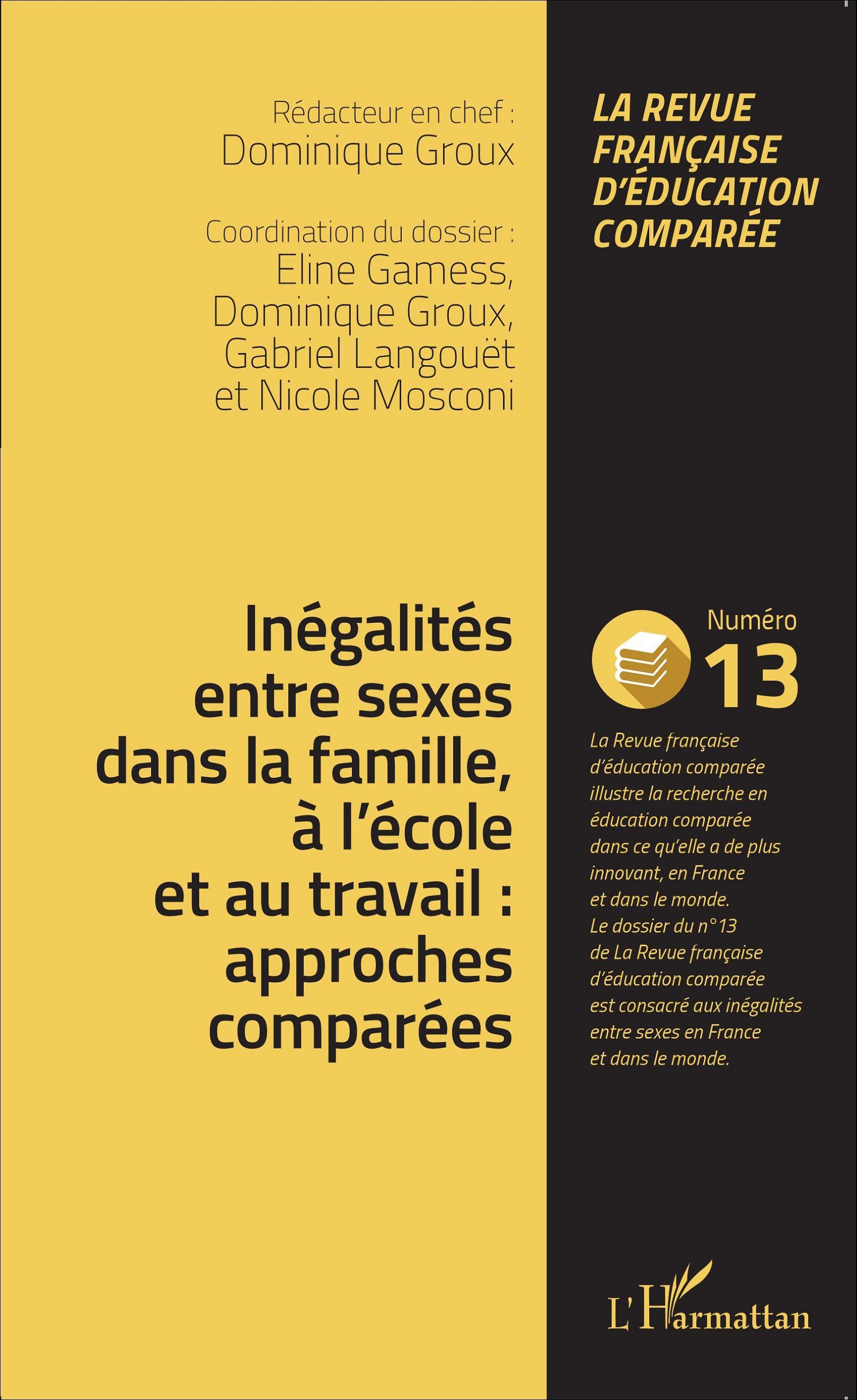 Afbeeldingsresultaat voor Inégalités entre sexes dans la famille, à l'école et au travail: approches comparées