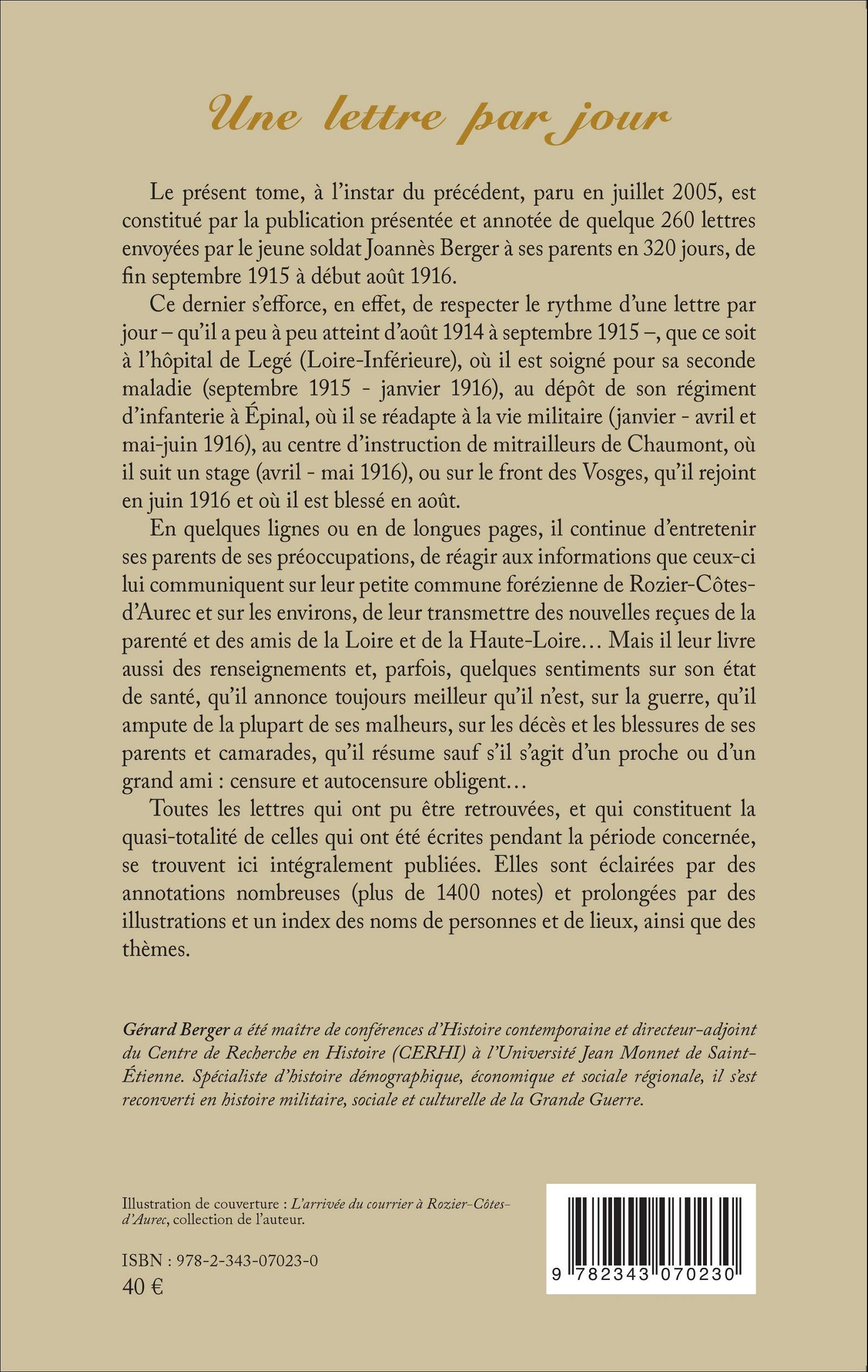 Une lettre par jour correspondance de joann s berger for Catalogue de jardinage par correspondance