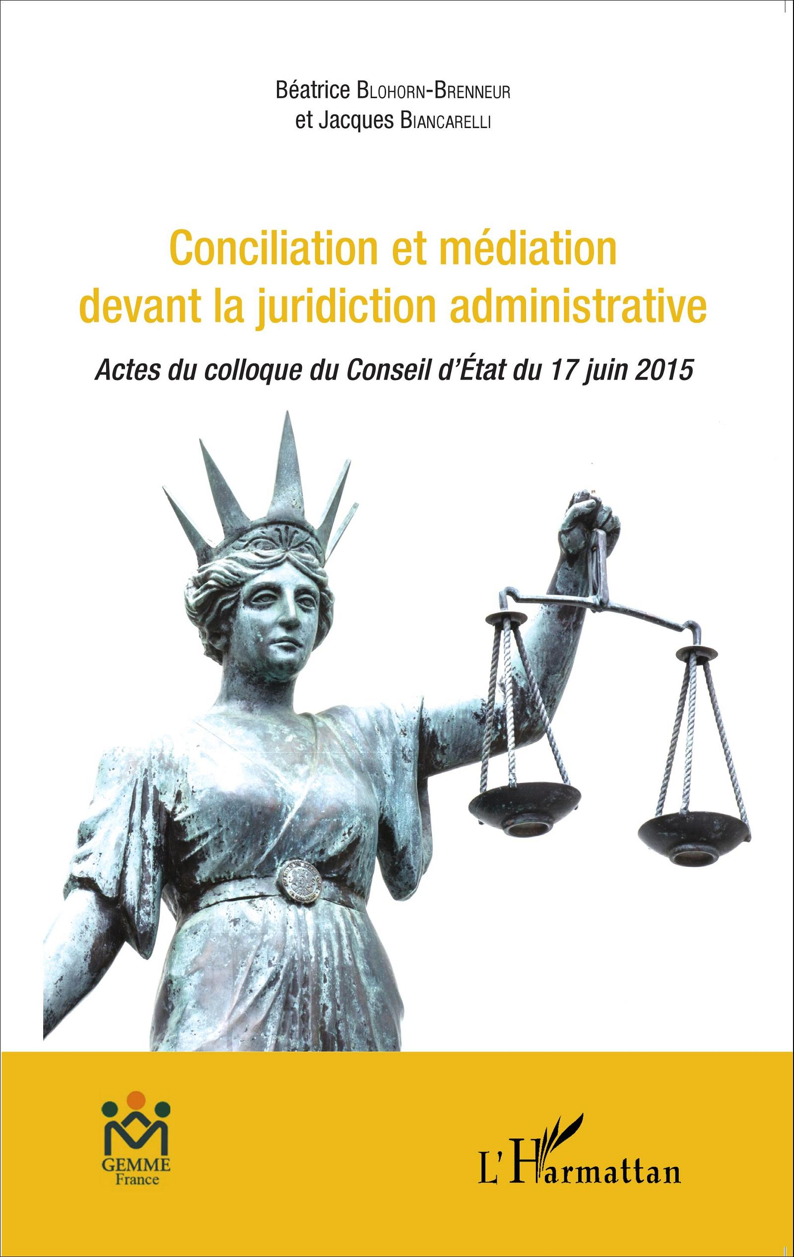 Conciliation et m diation devant la juridiction administrative actes du col - Mediation et conciliation ...