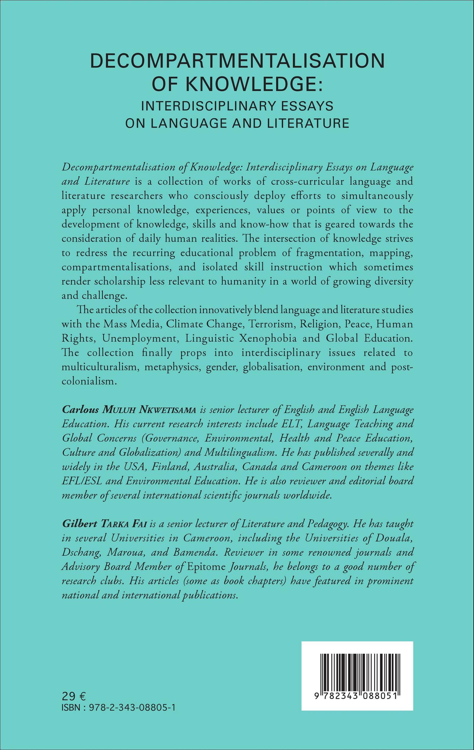 Interdisciplinary Studies Essays (Examples)