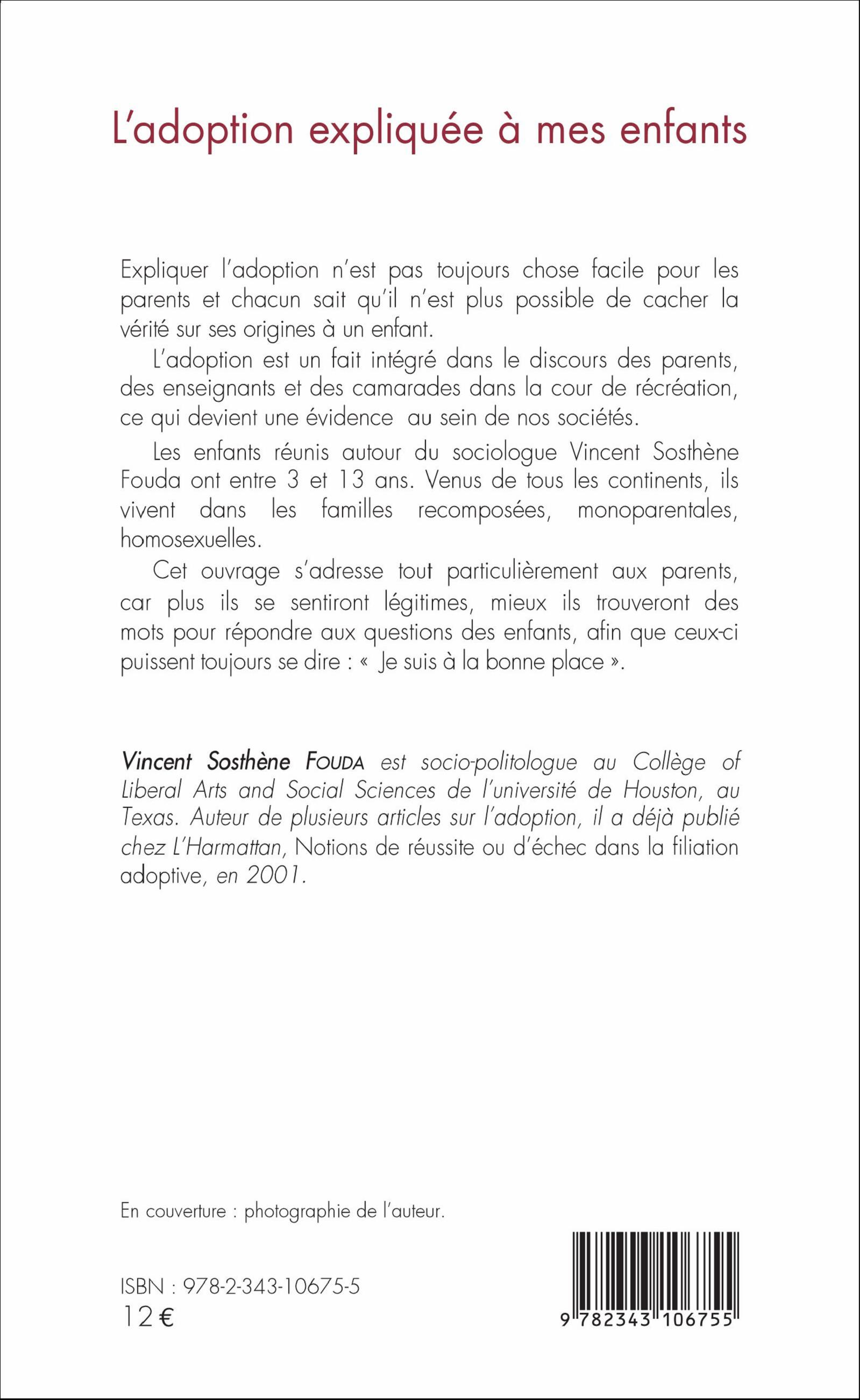 Ladoption Expliquée à Mes Enfants Vincent Sosthène Fouda