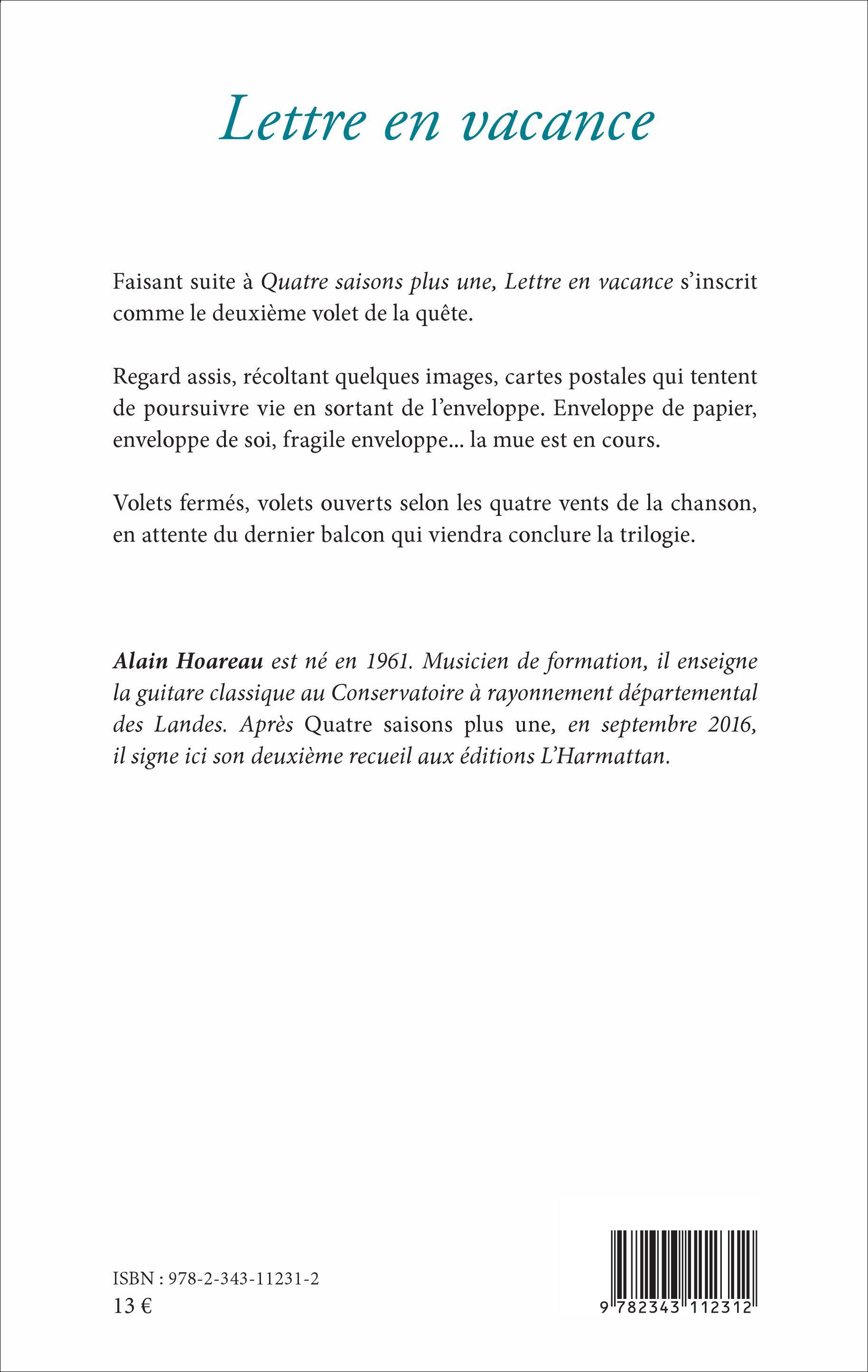 lettre vacances LETTRE EN VACANCE, Alain Hoareau   livre, ebook, epub lettre vacances