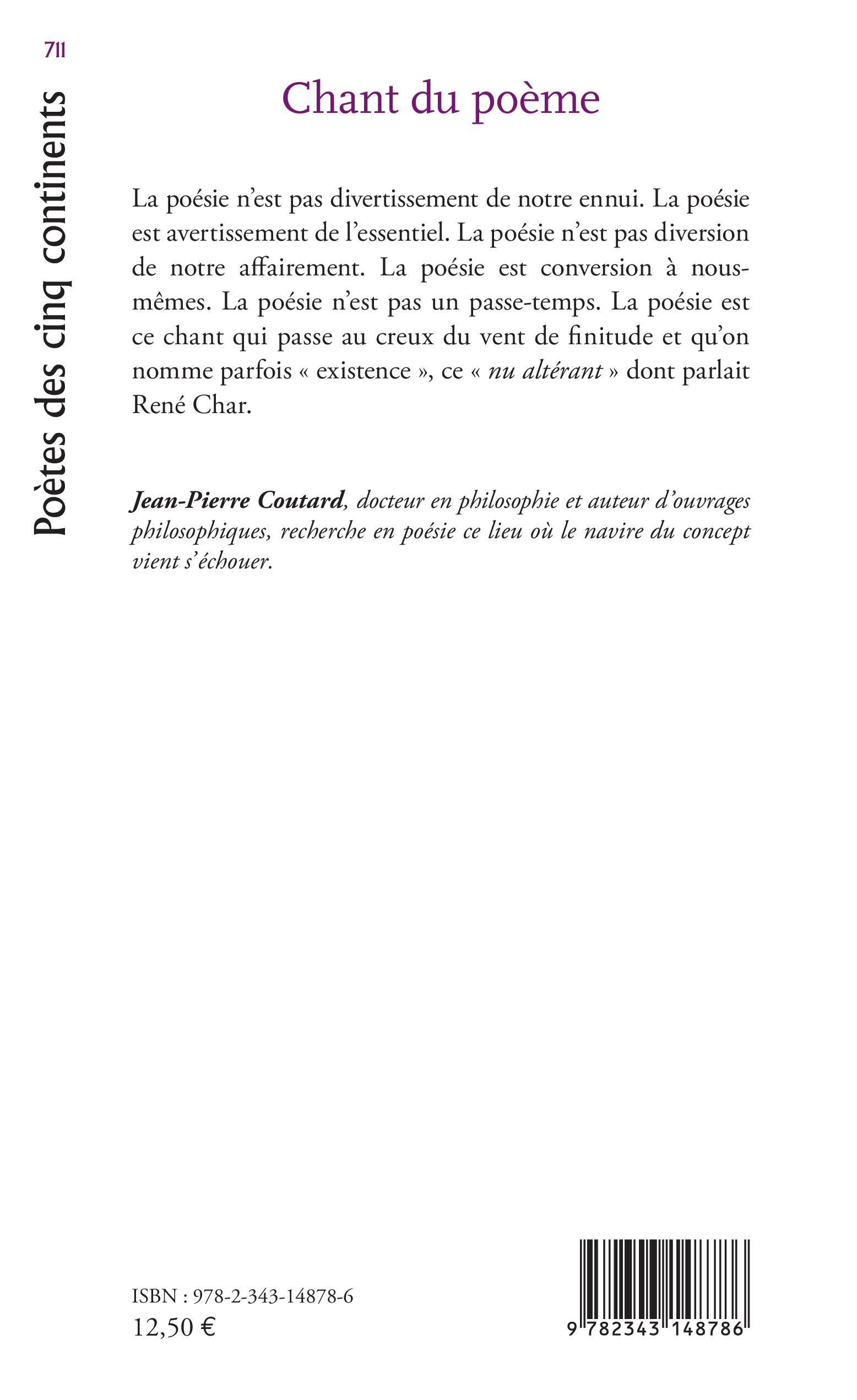 Revues Chant Du Poème Jean Pierre Coutard