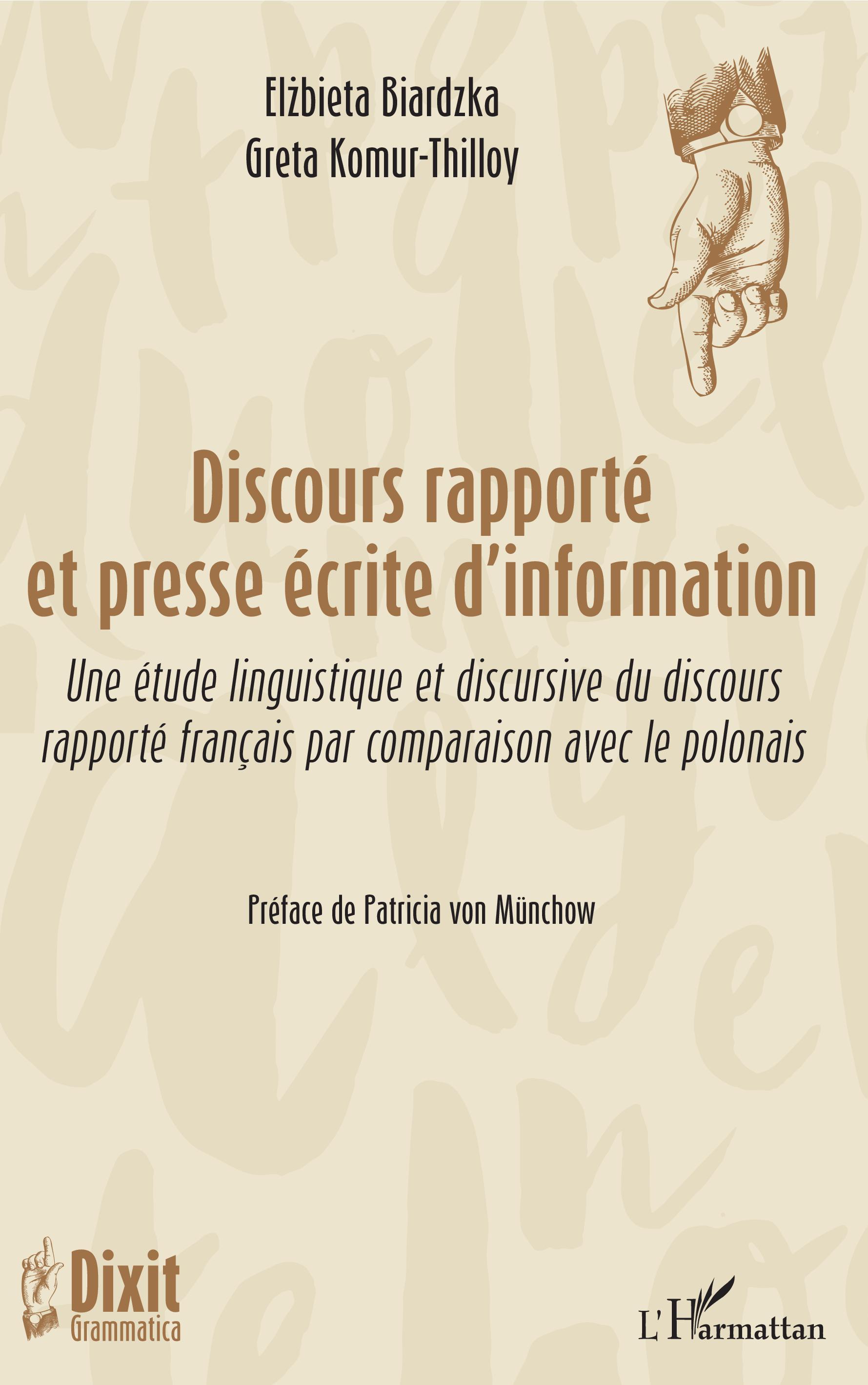 634e6ea02bbd DISCOURS RAPPORTÉ ET PRESSE ÉCRITE D'INFORMATION - Une étude ...