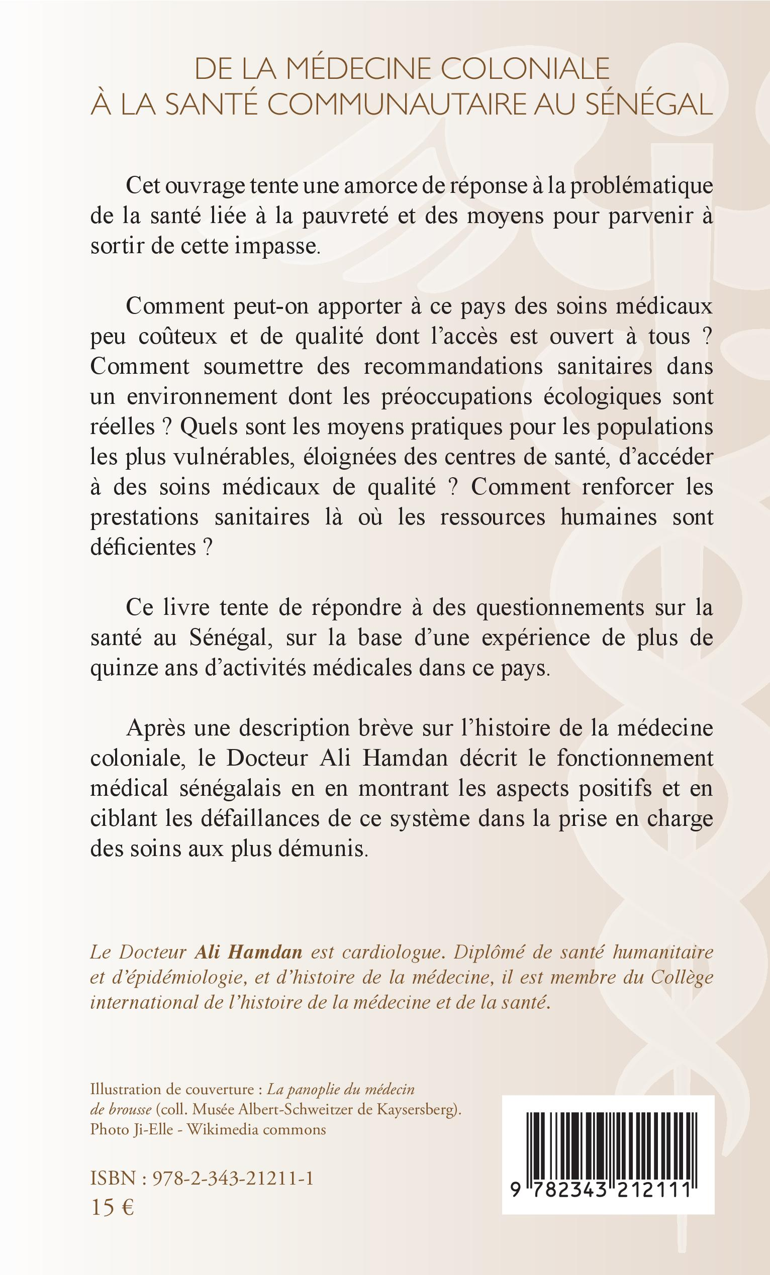 De La Medecine Coloniale A La Sante Communautaire Au Senegal Ali Hamdan Livre Ebook Epub