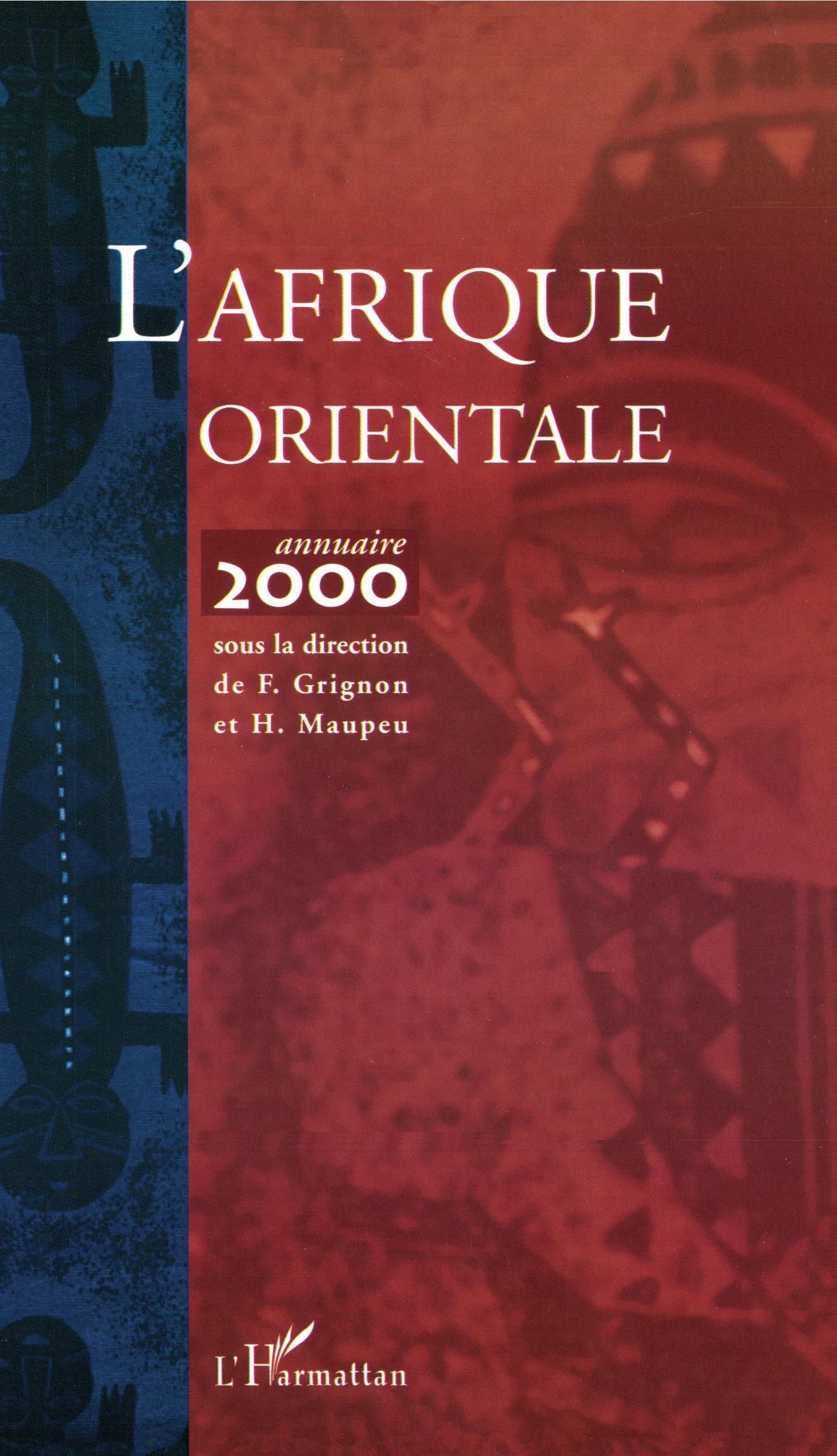 L'Afrique orientale. Annuaire 2002 - Hervé Maupeu