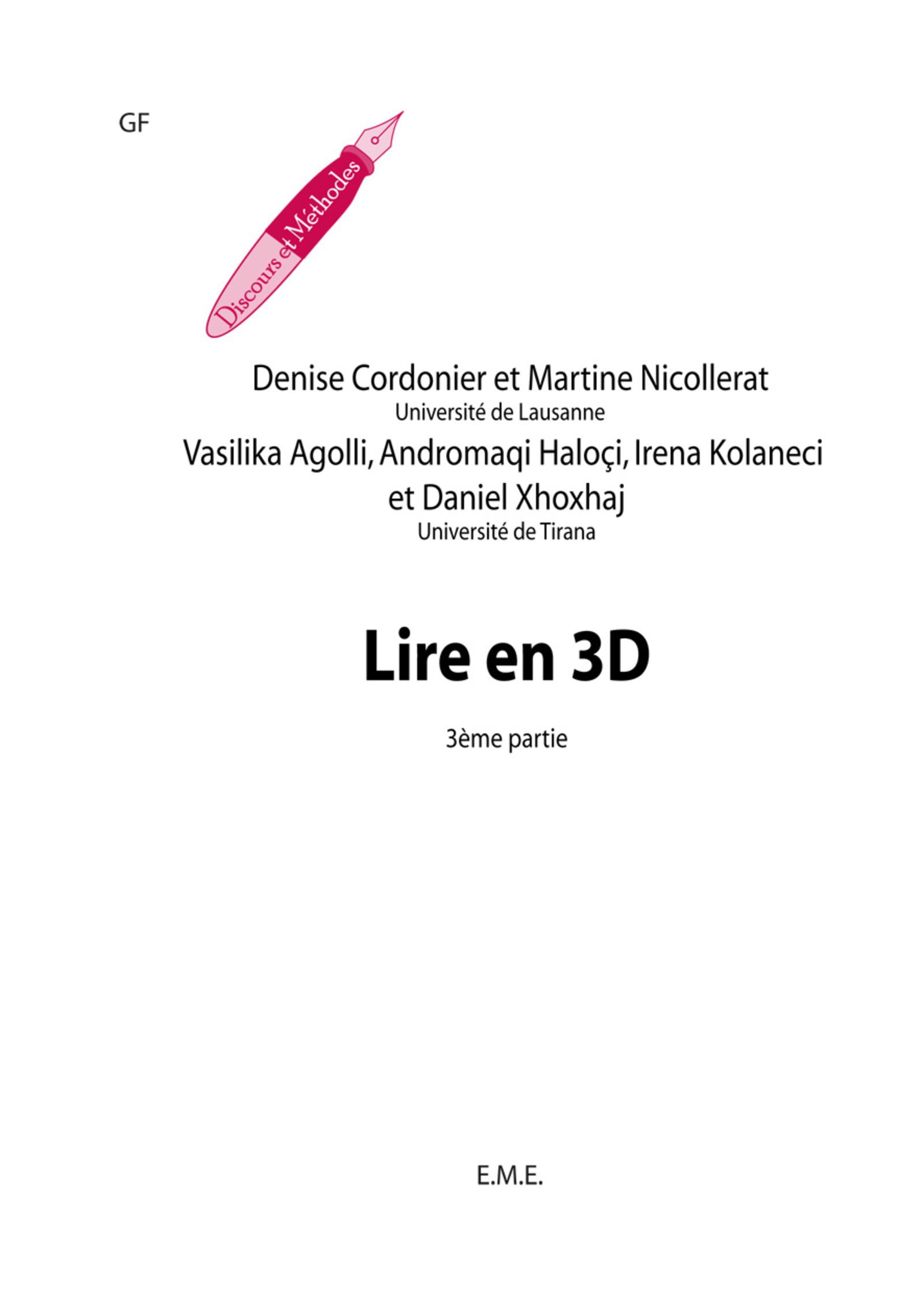 Lire en 3D (3e