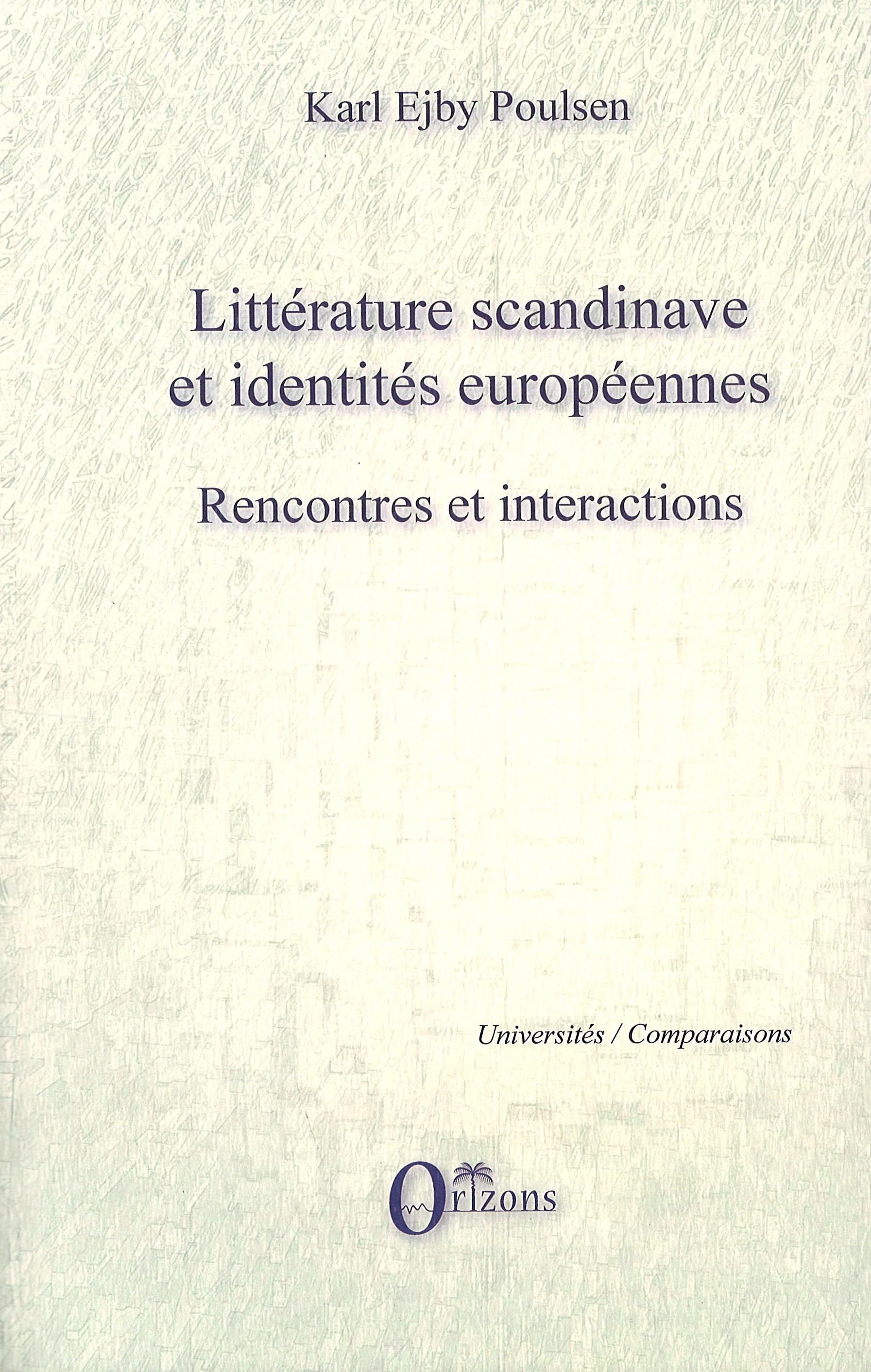 Littérature Et Européennes Scandinave Identités Rencontres rFXrwq
