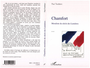 Couverture Chamfort