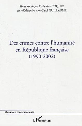 Couverture Des crimes contre l'humanité en République française