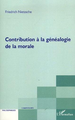 Couverture Contribution à la généalogie de la morale