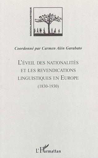 Couverture L'éveil des nationalités et les revendications linguistiques en Europe