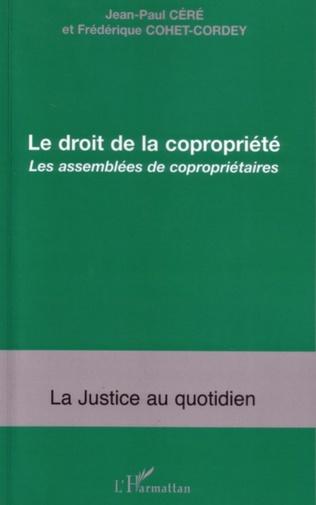 Couverture Le droit de la copropriété