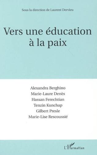 Couverture Vers une éducation à la paix