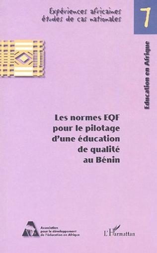 Couverture Les normes EQF pour le pilotage d'une éducation de qualité au Bénin