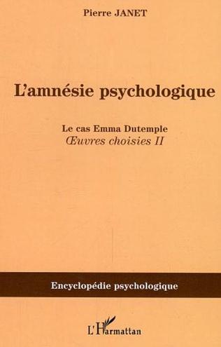 Couverture L'amnésie psychologique