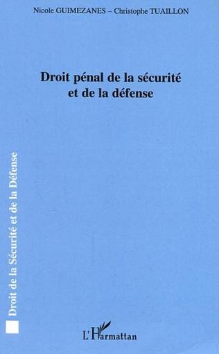Couverture Droit pénal de la sécurité et de la défense