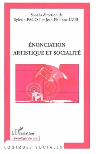 Couverture Enonciation artistique et socialité