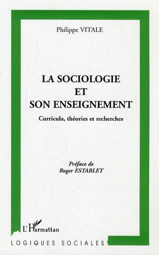 Couverture La sociologie et son enseignement