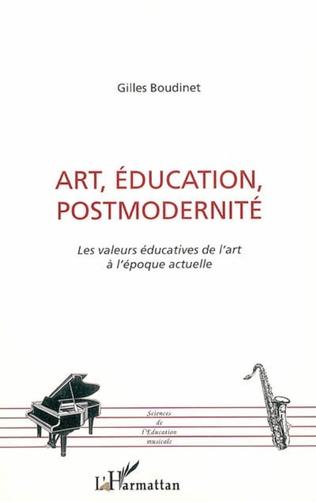 Couverture Art, éducation, postmodernité